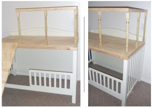 Convert Crib Toddler Bed To Loft Bed Play Area
